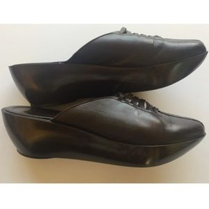 Robert Clergerie Paris Leather Clogs From France